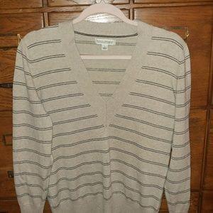 Banana Republic Striped Cotton Cashmere Sweater